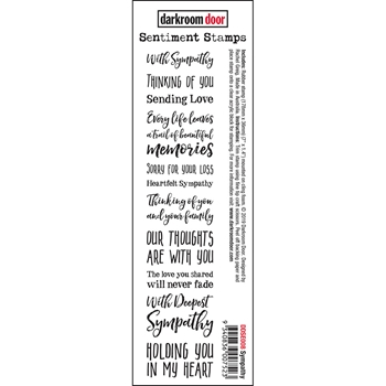 Darkroom Door Cling SYMPATHY Sentiment Stamp ddse008