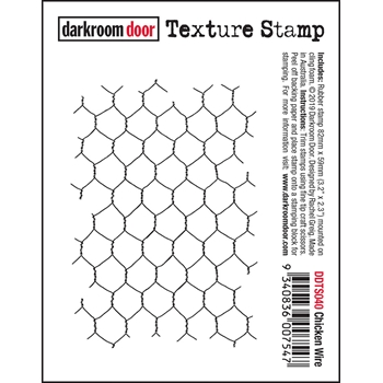 Darkroom Door Cling CHICKEN WIRE Texture Stamp ddts040