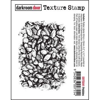 Darkroom Door Cling PEBBLES Texture Stamp ddts041