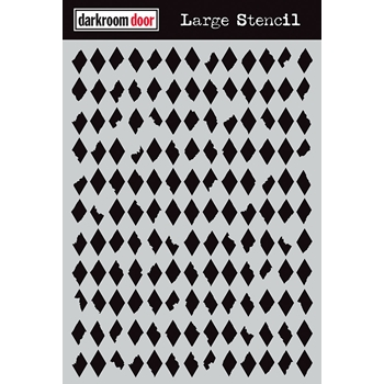 Darkroom Door DIAMONDS Large Stencil ddls012
