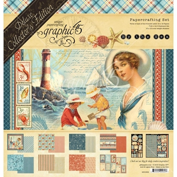 Graphic 45 BY THE SEA 12 x 12 Deluxe Collector's Edition 4501832