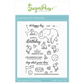SugarPea Designs ELEPHANT PARADE Clear Stamp Set spd-00323