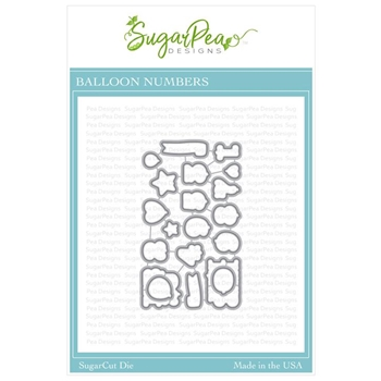 SugarPea Designs BALLOON NUMBERS SugarCuts Dies spd-00326