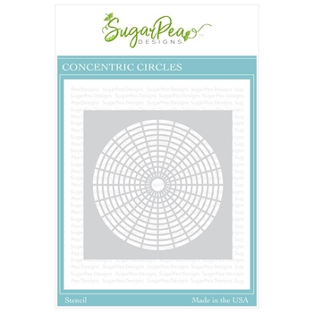 SugarPea Designs CONCENTRIC CIRCLES Stencil spd-00337