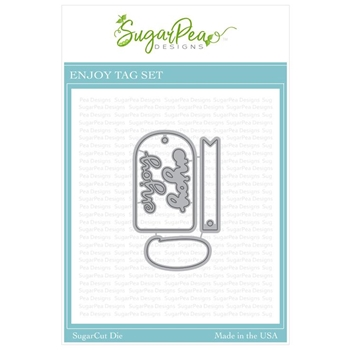 SugarPea Designs ENJOY TAG SugarCuts Dies spd-00336