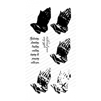 Impression Obsession Clear Stamps LAYERED PRAYING HANDS WP917