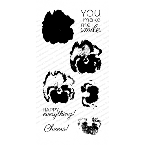 Impression Obsession Clear Stamps LAYERING PANSY WP916 Preview Image
