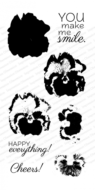 Impression Obsession Clear Stamps LAYERING PANSY WP916 zoom image