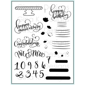 Gina K Designs CAKE TOPPERS Clear Stamps 2347