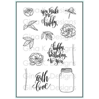 Gina K Designs YOU MAKE ME HAPPY Clear Stamps 3412