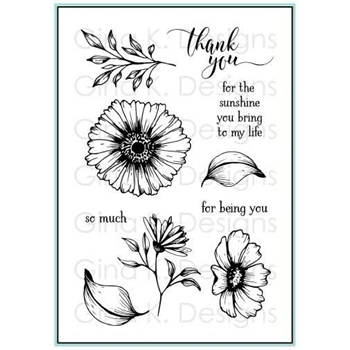 Gina K Designs VIBRANT BLOOMS Clear Stamps 2392