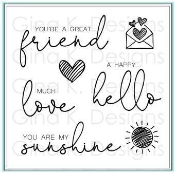 Gina K Designs LOVELY WORDS Clear Stamps 2330