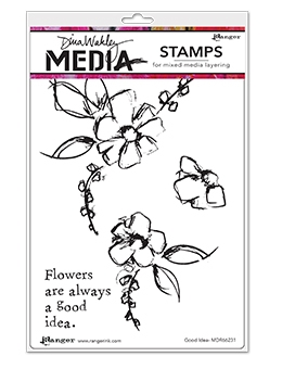 Dina Wakley GOOD IDEA Clear Stamp Set MDR66231