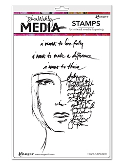Dina Wakley I WANT Clear Stamp Set MDR66248 Preview Image