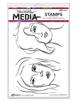 Dina Wakley LOVELY WOMEN Clear Stamp Set MDR66255