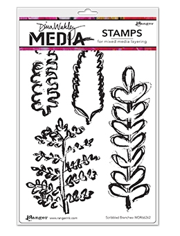 Dina Wakley SCRIBBLED BRANCHES Clear Stamp Set MDR66262