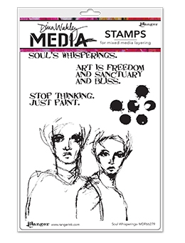 Dina Wakley SOUL WHISPERINGS Clear Stamp Set MDR66279