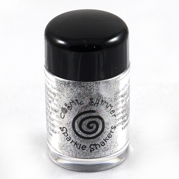 Cosmic Shimmer SILVER RAINBOW Sparkle Shaker cssparksilv