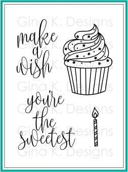 Gina K Designs MAKE A WISH Clear Stamps 2774 zoom image