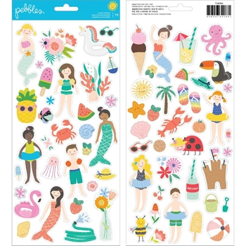 Pebbles Inc. OH SUMMERTIME Accents Cardstock Stickers 734086
