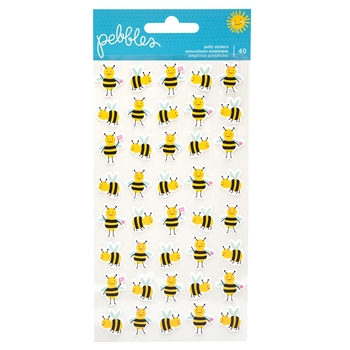 Pebbles Inc. BEES Puffy Stickers Oh Summertime 734088