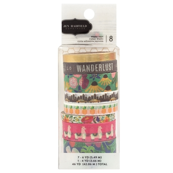 Pebbles Inc. Jen Hadfield WASHI TAPE Chasing Adventures 734029
