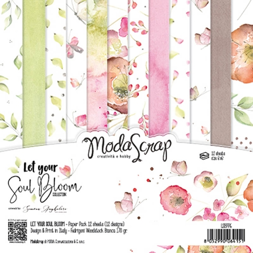 ModaScrap Let Your Soul Bloom 6x6 Paper Pack