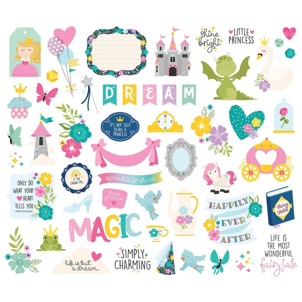 Simple Stories LITTLE PRINCESS Bits And Pieces 10569 zoom image