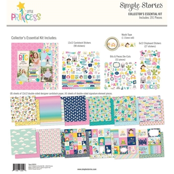Simple Stories LITTLE PRINCESS 12 x 12 Collector's Essential Kit 10574