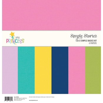 Simple Stories LITTLE PRINCESS 12 x 12 Basics Kit 10580