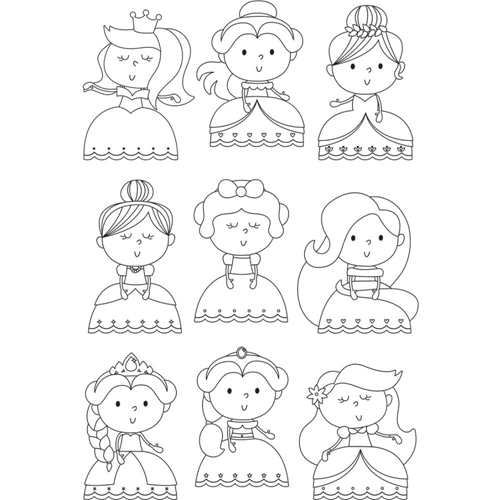 Simple Stories PRETTY Little Princess Clear Stamp Set 10745 Preview Image