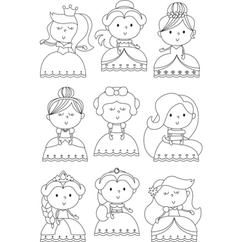 Simple Stories PRETTY Little Princess Clear Stamp Set 10745
