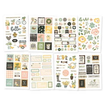 Simple Stories SPRING FARMHOUSE 4 x 6 Stickers 10599