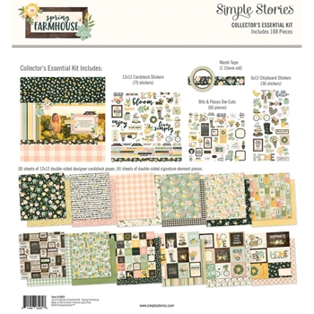 Simple Stories SPRING FARMHOUSE 12 x 12 Collector's Essential Kit 10601
