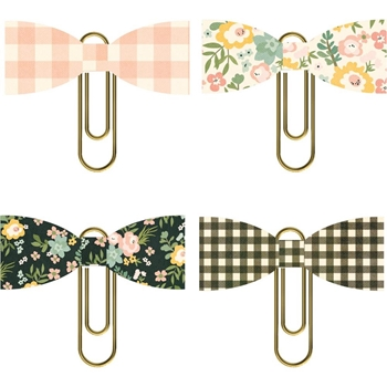 Simple Stories SPRING FARMHOUSE Bow Clips 10603