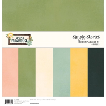 Simple Stories SPRING FARMHOUSE 12 x 12 Basics Kit 10727