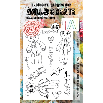 AALL & Create BAD BEARS Clear Stamp Set aal00157