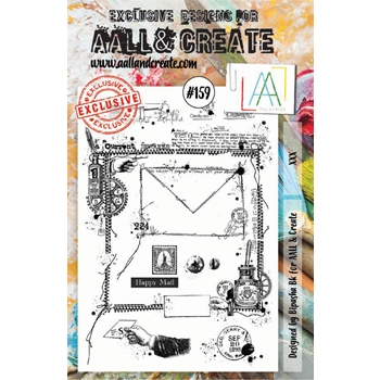 AALL & Create HAPPY MAIL Clear Stamp Set aal00159