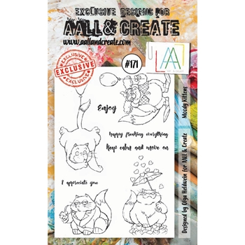 AALL & Create MOODY KITTENS Clear Stamp Set aal00171