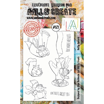 AALL & Create NUTTY SQUIRRELS Clear Stamp Set aal00172