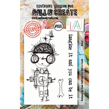 AALL & Create ROBOT Clear Stamp Set aal00188