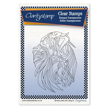 Claritystamp UNICORN Clear Stamp and Mask stafy10667a6