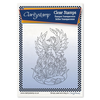 Claritystamp PHOENIX Clear Stamp and Mask stafy10666a6