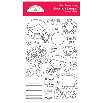 Doodlebug YOU'RE SWEET Clear Doodle Stamps 6327