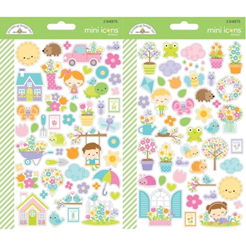 Doodlebug SIMPLY SPRING Mini Icons Cardstock Stickers 6255