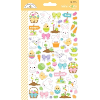 Doodlebug HOPPY EASTER Mini Icons Cardstock Stickers 6256