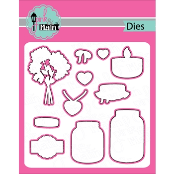 Pink and Main PRETTY JARS Dies PNM195