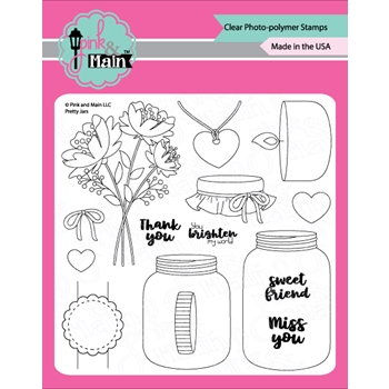 Pink and Main PRETTY JARS Clear Stamps PM0324