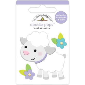Doodlebug LAMBY Doodle Pops 3D Stickers Hoppy Easter 6243
