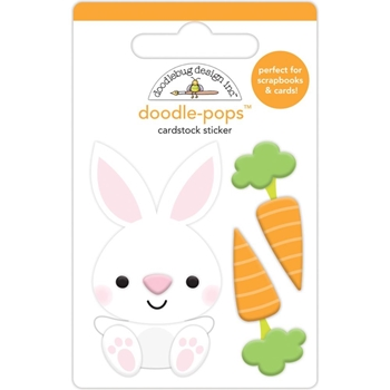 Doodlebug BABY BUNNY Doodle Pops 3D Stickers Hoppy Easter 6240